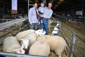 ROW 2018 - Phyl, David & Daniel Hale with their lambs sold in aid of Bristol Children's Hospital.JPG