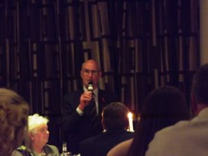 AGM 2017 - Mr Jimmy Warnock MBE entertained as speaker.JPG