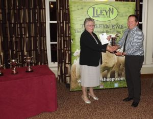 AGM 2017 - Gwenda Roberts presents Wynne Davies with the HE Roberts Memorial Cup.JPG