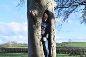 AGM 2018 - The Drak Hedges - Who's that in the tree.JPG