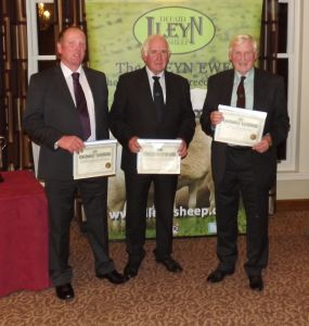 AGM 2017 - The three judges, Dewi Ellis, Wallace McCurdie & Dai Morris recived their certificates from the Society.JPG