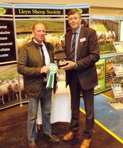 NLSC 2015 - Judge John Geldard presents the champion club to Dewi Ellis on behalf of the North Wales Club.jpg