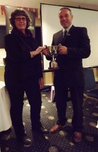 AGM 2015 - David Knowles presents Mandy Fort with the Lluest Wen Cup.jpg