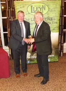 AGM 2017 - John Dugdale presents the Lleyn Sheep Societys Cup to Llew Thomas on behalf of Lionel Organ.JPG