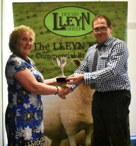 AGM 2019 - Ann Jones prenets Wynne Davies with the Morgan Evans Cup.JPG