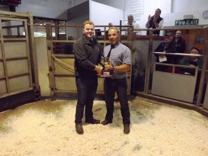 Ruthin 2016 - Society Chairman David Knowles presents JF Robinson with Champion Females.JPG
