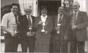 1999 Cup Winners - Wynne Davies, Lionel Organ, Carol Burrows, Gwyn Anthony, Graham Robson.JPG