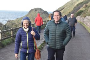 AGM 2018 - Causeway - President Wynne Davies and Ann tackle the route on foot.JPG