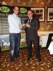 AGM 2016 - Terry Fort collects the Lluest Wen Cup from David Knowles.JPG